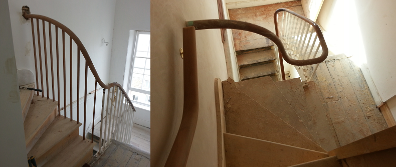 wellington square hastings conservation listed wooden staircase restoration