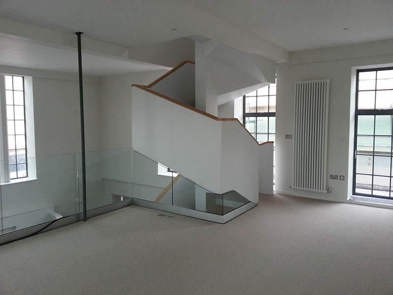 Completed Wooden Staircase Installation
