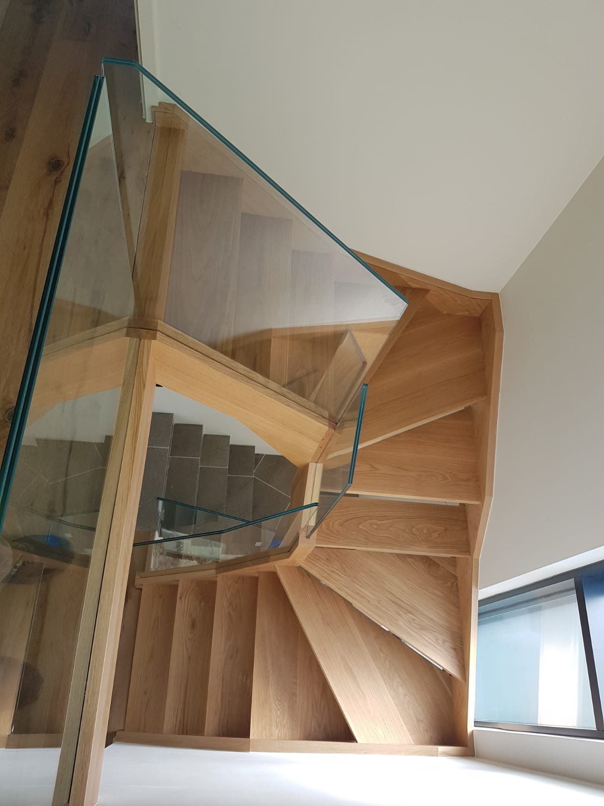 3 open Tread Staircases